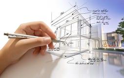 Architectuur creatief proces royalty-vrije illustratie