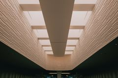 Architectuur in de luchthaven royalty-vrije stock afbeeldingen