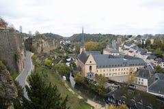 Architectuur in de stad van Luxemburg Stock Fotografie
