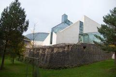 Architectuur in de stad van Luxemburg Stock Foto