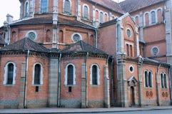 Architectuur die van Saigon Kerk, Vietnam wordt gekenmerkt Royalty-vrije Stock Foto's
