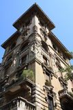 Architectuur door Coppede in Rome Stock Afbeelding