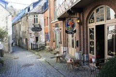 Architectuur in Durbuy, België stock foto's