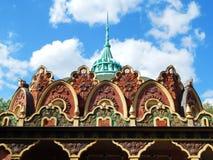 Architectuur Een deel van pavillion bij de Tentoonstelling van Verwezenlijkingen in Moskou Stock Fotografie