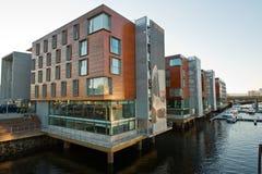 Architectuur en de bouw van de Noorse stad Royalty-vrije Stock Afbeelding