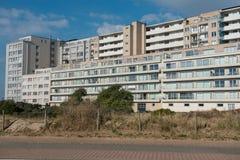 Architectuur - flatgebouwen in België, Vlaanderen op Nort royalty-vrije stock fotografie