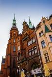 Architectuur in Legnica polen royalty-vrije stock afbeeldingen