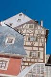 Architectuur met optische illusie het schilderen op de muur Stock Foto's