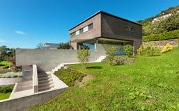 Architectuur modern ontwerp, huis Stock Foto