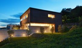 Architectuur modern ontwerp, huis Stock Afbeelding