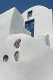 Architectuur in Oia in Santorini-eiland, Griekenland Royalty-vrije Stock Afbeelding