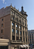 Architectuur op de straten van Barcelona Stock Afbeelding