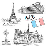 Architectuur Parijs Royalty-vrije Stock Foto's