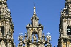 Baroque portal cathedral Santiago de Compostela Stock Image