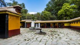 Architectuur in Tibet stock afbeelding