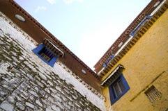 Architectuur in Tibet Royalty-vrije Stock Fotografie