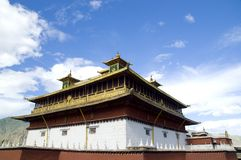 Architectuur in Tibet Stock Foto