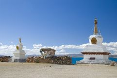 Architectuur in Tibet Stock Fotografie