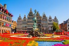 Architectuur van Antewerp, België royalty-vrije stock foto