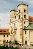 Architectuur van Benedictineabdij in Krakau, Polen stock foto's