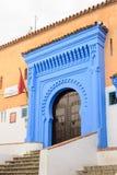 Architectuur van Chefchaouen, Marokko stock afbeelding