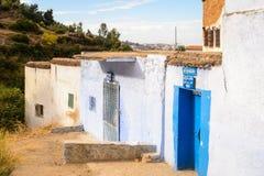 Architectuur van Chefchaouen, Marokko royalty-vrije stock foto