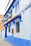 Architectuur van Chefchaouen, Marokko stock foto