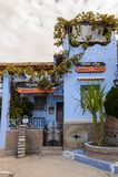 Architectuur van Chefchaouen, Marokko royalty-vrije stock foto's