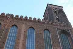 Architectuur van de oude stad Gdansk Polen stock foto's