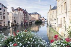 Architectuur van de Rivier van Metz en van Moezel royalty-vrije stock fotografie