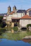 Architectuur van de Rivier van Metz en van Moezel royalty-vrije stock foto