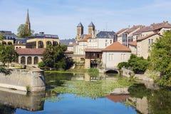 Architectuur van de Rivier van Metz en van Moezel royalty-vrije stock afbeeldingen