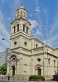 Architectuur van de stad van Lodz, Polen. Kerken Stock Afbeelding