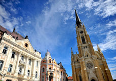 Architectuur van de stad van Novi Sad Stock Afbeelding