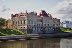 Architectuur van de stad van Rybinsk, Rusland Museum-reserve van Rybinsk Royalty-vrije Stock Fotografie