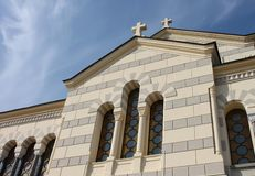 Architectuur van de traditionele Orthodoxe Kerk Stock Afbeelding