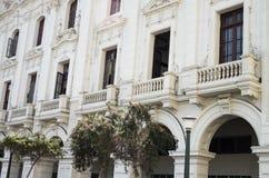 Architectuur van een historisch gebouw, Lima, Peru Stock Foto's