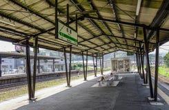 Architectuur van een landelijk station stock foto's