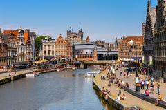 Architectuur van Gent, België royalty-vrije stock foto