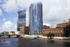 Architectuur van Grand Rapids stock afbeeldingen