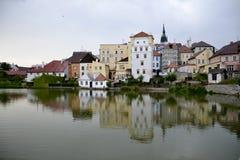 Architectuur van het kasteel van Jindrichuv Hradec royalty-vrije stock afbeeldingen