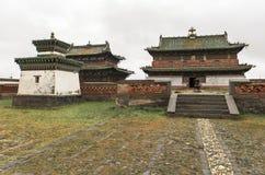 Architectuur van het Klooster van Erdene Zuu in Mongolië stock afbeelding