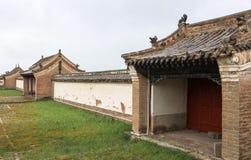 Architectuur van het Klooster van Kharkhorin Erdenzuu, Mongolië stock foto's