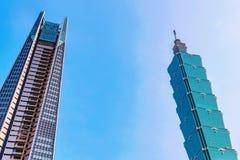 Architectuur van het Xinyi de financiële district Royalty-vrije Stock Foto's
