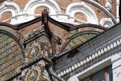 Architectuur van Izmailovo-manor in Moskou De Kathedraal van de interventie Stock Afbeeldingen