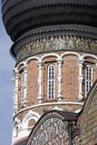 Architectuur van Izmailovo-manor in Moskou De Kathedraal van de interventie Stock Fotografie