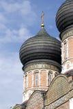 Architectuur van Izmailovo-manor in Moskou De Kathedraal van de interventie Stock Foto's