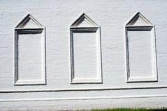 Architectuur van Izmailovo-manor in Moskou Valse vensters Royalty-vrije Stock Afbeelding