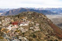 Architectuur van Klooster in Lhasa, Tibet Stock Afbeelding