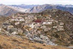 Architectuur van Klooster in Lhasa, Tibet Royalty-vrije Stock Foto's